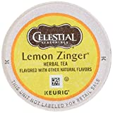 Celestial Seasonings Teas & Herbal Teas 74-14732 Lemon Zinger Herbal Tea K-cups, 24-Count
