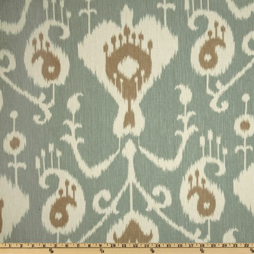 Mocha Java Accent - Magnolia Home Fashions Java Ikat Spa Fabric By The Yard