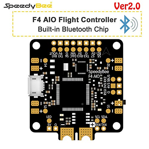 Kamas New Upgraded SpeedyBee F4 AIO V2 Flight Controller BLE Module Integrated OSD Flight Control with 16MB Blackbox