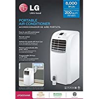 LG LP0815WNR Portable Air Conditioner, 115V Cooling Only & Dehumidifier w/Remote - 8,000 BTU