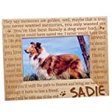 GiftsForYouNow Engraved Til' The End Personalized Pet Memorial Picture Frame, Wood, 4'' by 6''