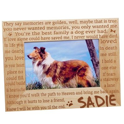 - GiftsForYouNow Engraved Til' The End Personalized Pet Memorial Picture Frame, Wood, 4