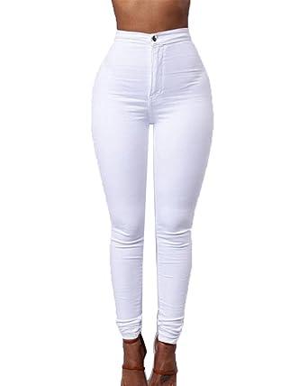 Haute Shifan Leggings Slim Taille Pantalon Stretch Jeans En Denim xFSqUFX