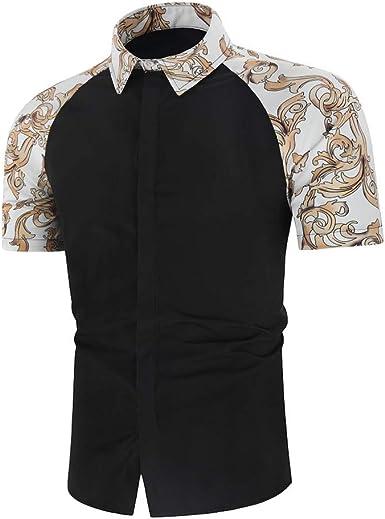Camisa de Vestir para Hombre de Manga Larga con Botones - Negro - XX-Large: Amazon.es: Ropa y accesorios