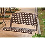 Santa Fe Iron Hanging Porch Swing in Antique Brown