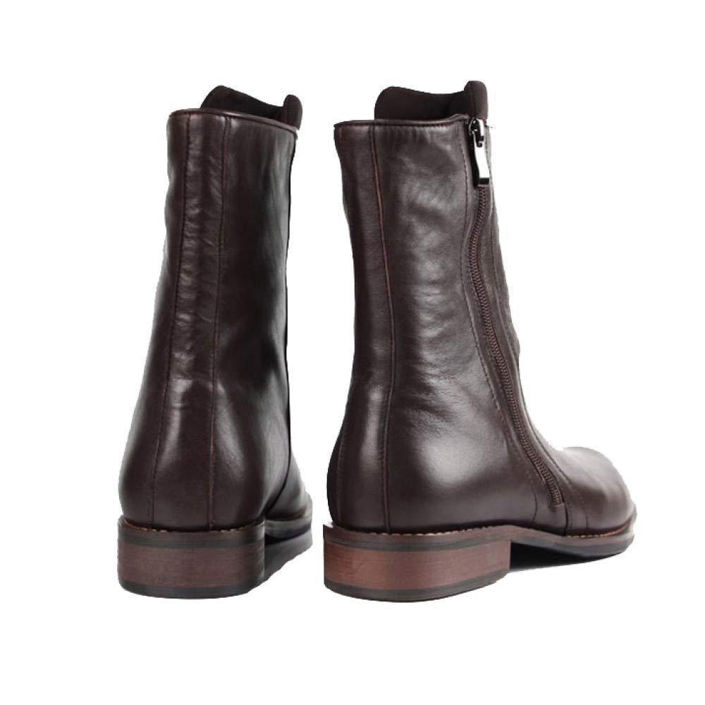 ZPEDY Männer, Lederschuhe, England, Martin Stiefel, Trends High Top Schuhe, Reißverschlüsse, Trends Stiefel, schwarz e9df9b