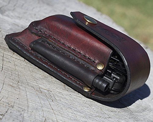 Leatherman leather sheath suitable for SURGE -OHT Coyote + bit kit & extender