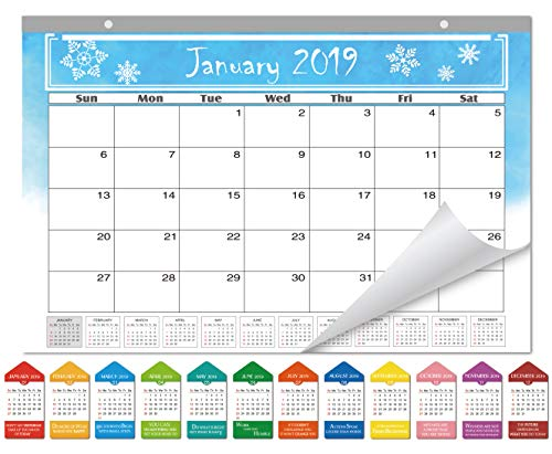 SICOHOME 2019 Desk Calendar,Seasonal,16