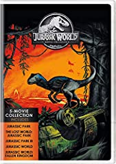 Celebrate one of the biggest movie franchises of all time with the Jurassic World 5-Movie Collection! From Academy Award-winning director Steven Spielberg (Jurassic Park, The Lost World: Jurassic Park), Joe Johnston (Jurassic Park III), Colin...