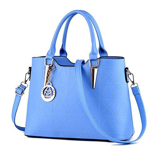 Wewod bolso bandolera/bandolera escolar niña/Carteras de mano con asa/bolso de hombro para mujer 34 x 24 x 13 cm (L*H*W) Azul claro