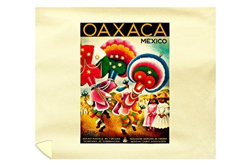 Oaxaca Vintage Poster (Artist: Miguel Covarrubias) Mexico c. 1941 65997 (88x104 King Microfiber Duvet Cover)