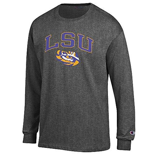 Champion LSU Tigers Granite Heather Campus Long Sleeve Tee Shirt - Long Lsu Shirts Sleeve