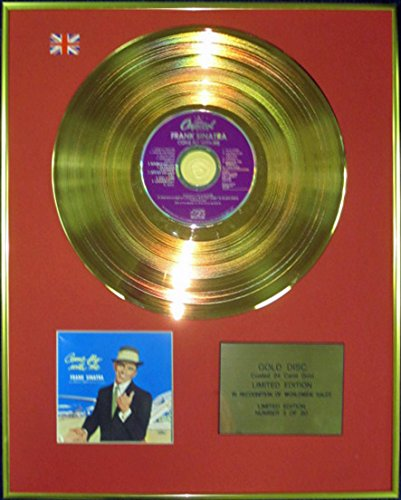 Frank Sinatra –  Ltd Edition CD 24 carats revê tu disque d'or –  Come Fly with Me Century Music Awards