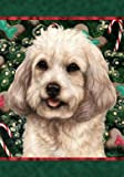 Cockapoo White – Best of Breed Holiday Treats Christmas Large Flag For Sale
