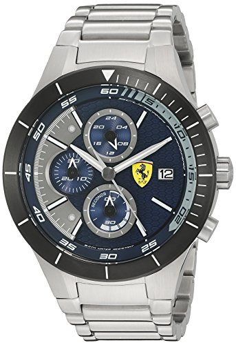 Ferrari Men's 0830270 REDREV EVO Analog Display Japanese Quartz Silver Watch