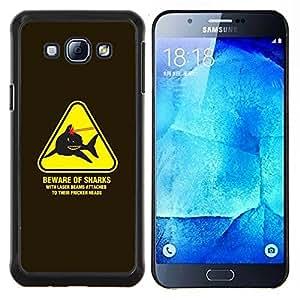 EJOOY---Cubierta de la caja de protección para la piel dura ** Samsung Galaxy A8 A8000 ** --Peligro Advertencia Láseres Powers Austin
