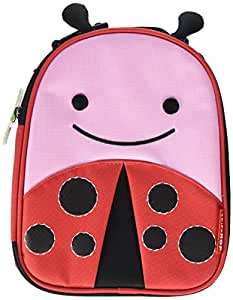 Skip Hop Baby Zoo Little Kid and Toddler Insulated and Water-Resistant Lunch Bag, Multi Livie Ladybug