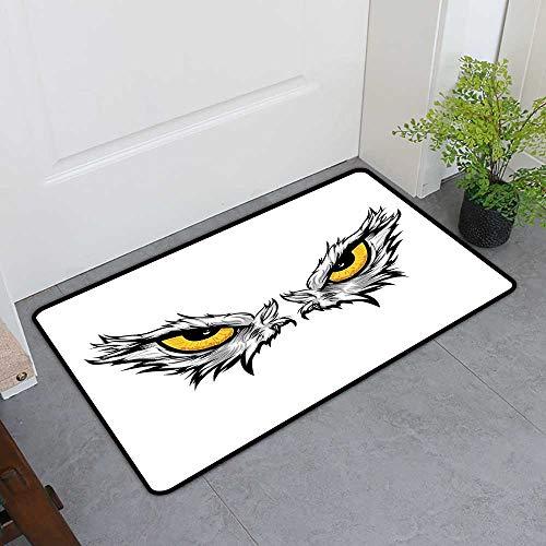 Commercial Door Mat, Eye Non-Slip Doormats for Bedroom,