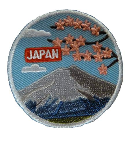 (Japan Mount Fuji Trip Travel Iron On Embroidered)