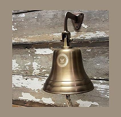 Amazon com : PORTHO BRAND US Navy Logo Engraved Bell