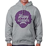 Brisco Brands Happy Accidents No Mistakes Bob Ross Joy of Painting Hoodie Sweatshirt