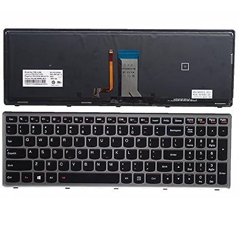 ARBUYSHOP 100% Nuevo teclado para el marco de teclado del ordenador portátil Lenovo U510 U510-IFI z710 Estados Unidos con luz de fondo: Amazon.es: ...