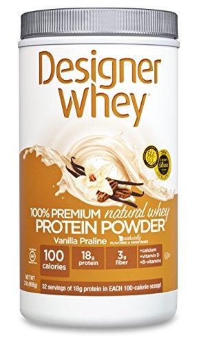 DESIGNER WHEY 100% Premium Whey Protein Powder, Vanille Praline, 32 once Container