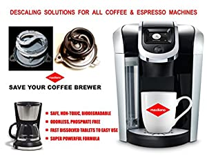 Keurig 2.0, Descaling Solutions, Coffee Brewers Oxi Cleaner (2 uses per pack) , Tassimo, DeLonghi, Saeco, Lavazza, Nespresso, Cuisinart, KitchenAid, Hamilton Beach FREE GIFT INSIDE EACH PACK. by Maxiliano Inc.