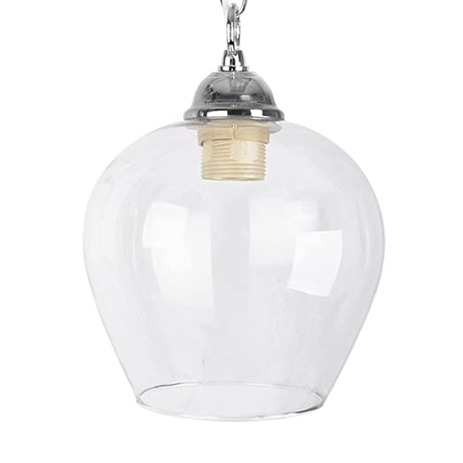 glass pendant lightbox clear fluted