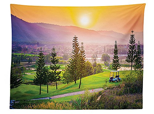 vipsung-farm-house-decor-tablecloth-vibrant-golf-resort-park-in-spring-season-with-trees-sunset-hill