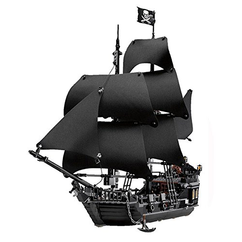 Black Pearl Pirate Ship Building Blocks Kit | Compatible with LEGO | Pirates of the Caribbean | 3D Models Encourage STEM Educational Learning in Boys and Girls