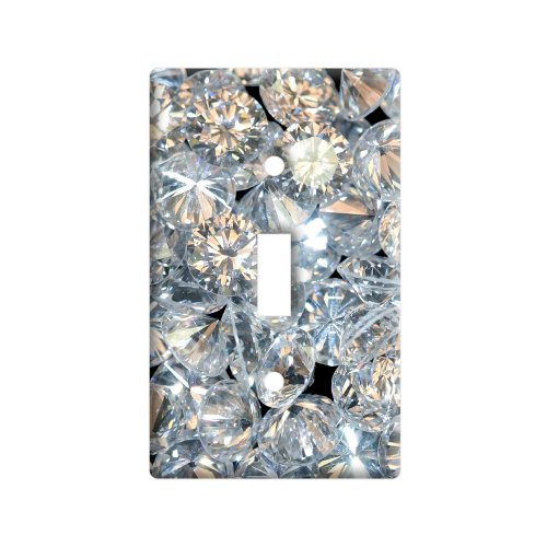 Graphics and More Loose Diamonds - Plastic Wall Decor Toggle Light Switch Plate Cover ()