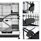 SONGMICS 4-Level Small Animal Pet Cage, Ferret