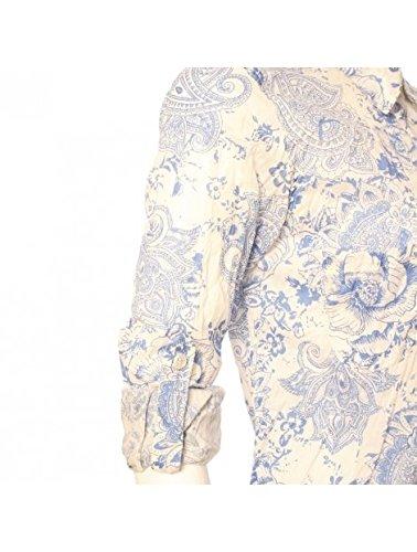 Caracol De Color - Chemise Femme Coton Imprimé Opale - FMLOPALE