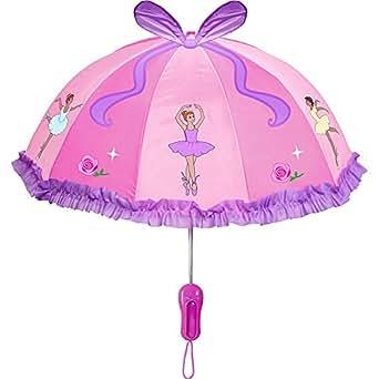 Kidorable Little Girls'  Ballet Umbrellas, Pink, One Size