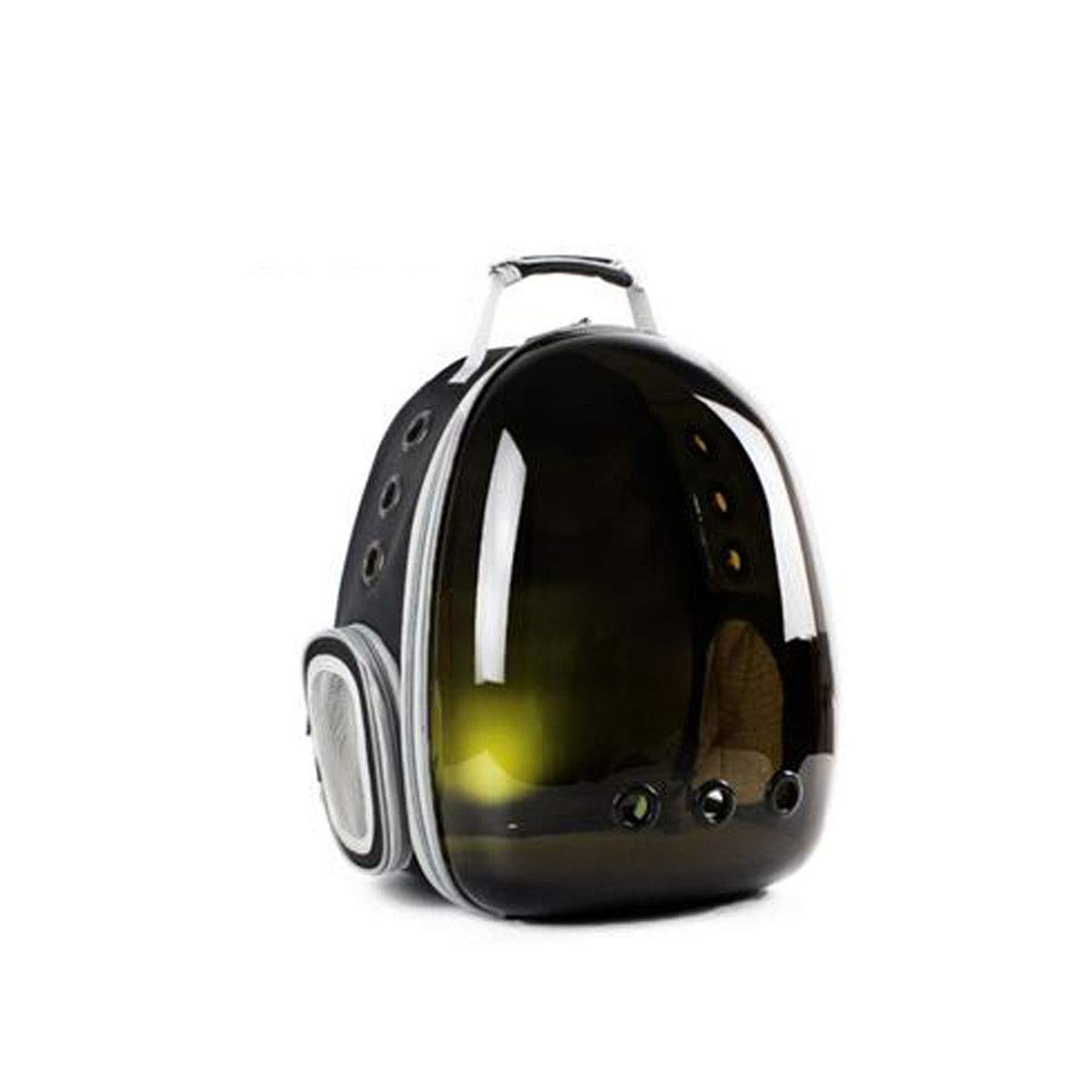 Black Guyuexuan Waterproof Pet Backpack, Space Capsule Bubble Transparent Backpack, Airline Approved, Suitable for Travel, Hiking, Walking Pet Travel Essentials (color   Black)
