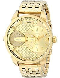 Mens DZ7306 The Daddies Series Analog Display Analog Quartz Gold Watch