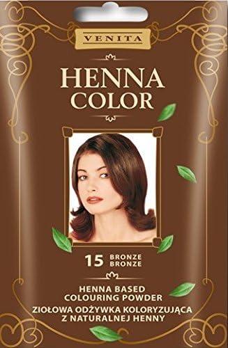 Henna Colour 15 - Tinte para el pelo marrón natural, efecto ...