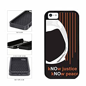 Know Justice Know Peace With Hoody Dual Layer Phone Case Back Cover Apple iPhone 6 4.7 includes diy case Cloth and Warranty Label