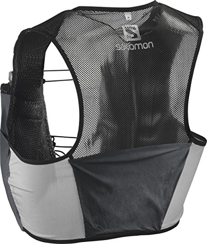 Salomon Unisex S/Lab Sense 2 Set Hydration Vest, Black/Racing Red, Medium