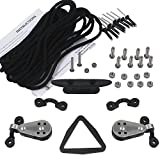 YYST Kayak Canoes Anchor Trolley Kit System w/Pulleys Pad Eye Cleats Ring 30 Feet of Rope