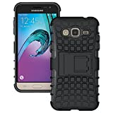Classico Pro Kick Stand Hard Dual Bumper Back Case For Samsung Galaxy J3 / Samsung Galaxy J3 Pro
