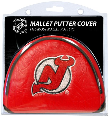 Team Golf NHL New Jersey Devils Golf Club Mallet Putter Headcover, Fits Most Mallet Putters, Scotty Cameron, Daddy Long Legs, Taylormade, Odyssey, Titleist, Ping, Callaway