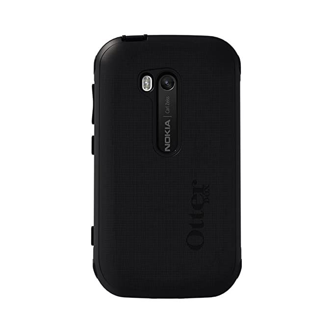 save off c2fd3 99a60 Otterbox 77-23970 Defender Case for Nokia Lumia 822 - 1 Pack - Retail  Packaging - Black (Discontinued by Manufacturer)