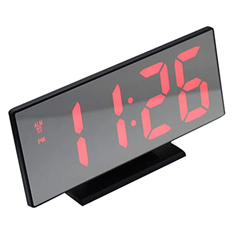 Amazon.com: JUSTDOLIFE LED Clock Desktop Multi-Purpose ...