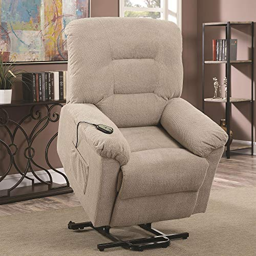 Coaster Home Furnishings Power Lift Recliner in Taupe