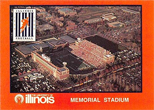 Memorial Stadium football card (Illinois, Fighting Illini) 1990 State Farm Collegiate #31