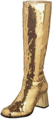 Bordello by Pleaser Women's Spectatcular-300 Sequin Gogo Boot