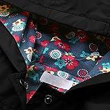jingjing1 Kids Raincoat, Flower Hooded Long