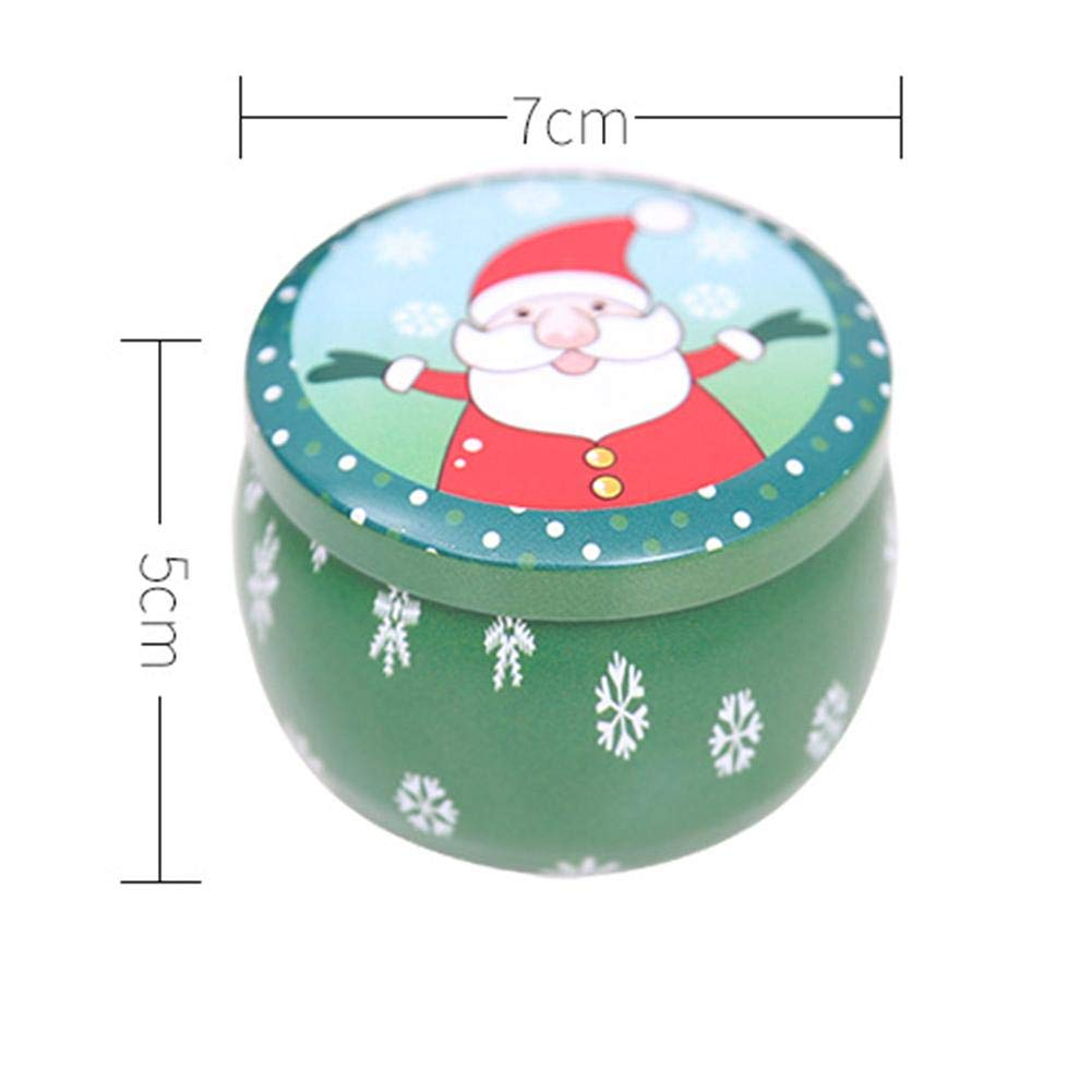 Tinplate Empty Tin Container with Lids DIY Candles Random Style 12pcs Wedding Party Favors Candy Dry Storage Christmas Storage Containers Box for Tea